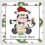 Baking Christmas Cow Holiday sticker