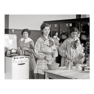 Baking Class, 1935 Postcard