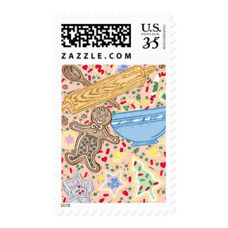 Baking Collage Postage Stamps