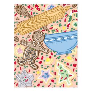 Baking Collage Postcard