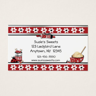 Baking Cookies Business Card
