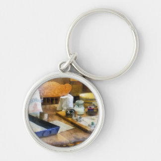 Baking Cookies Silver-Colored Round Keychain