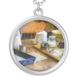 Baking Cookies Round Pendant Necklace