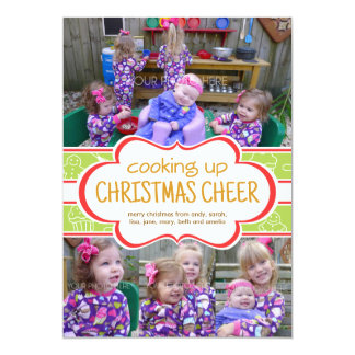 Baking, Cooking, Cookie Christmas Photo Card