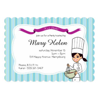 Baking Cooking Personalized Invitation
