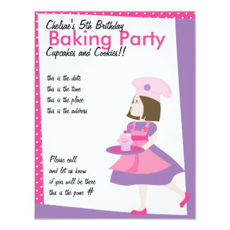 Baking Cutie-Purple Card