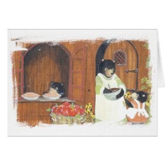 Baking Day Bears Card