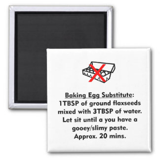 Baking Egg Substitute 2 Inch Square Magnet
