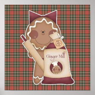 baking gingerbread girl print