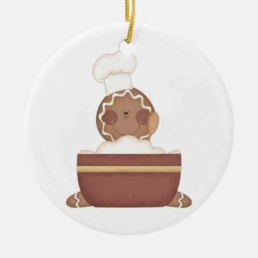 baking gingerbread man christmas ornament