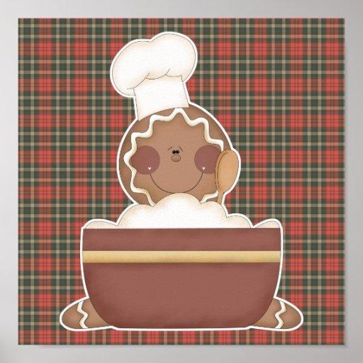 baking gingerbread man poster