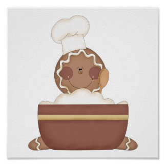 baking gingerbread man posters