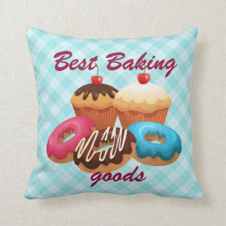 Baking goods retro illustration pillows