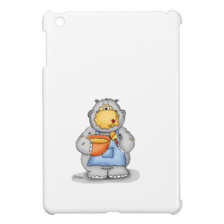 Baking Hippo eating dough - Personalize with name Case For The iPad Mini