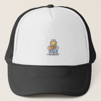 Baking Hippo eating dough - Personalize with name Trucker Hat