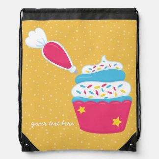 Baking is fun * choose your background color cinch bags