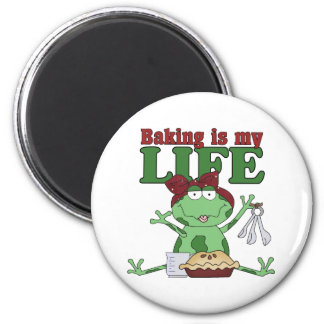Baking Is My Life 2 Inch Round Magnet