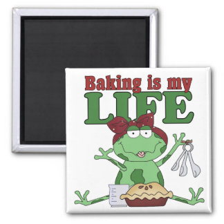 Baking Is My Life 2 Inch Square Magnet