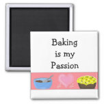 Baking is my Passion 2 Inch Square Magnet
