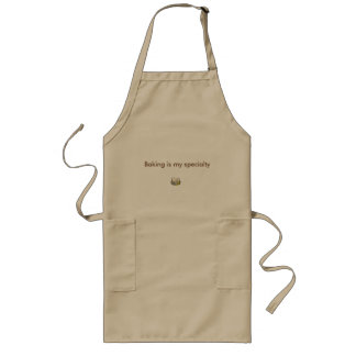 Baking is my specialty long tan apron