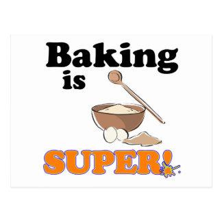 baking is super postcard