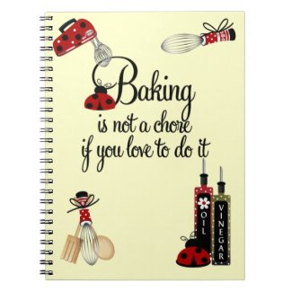 Baking Lady Bug Notebook