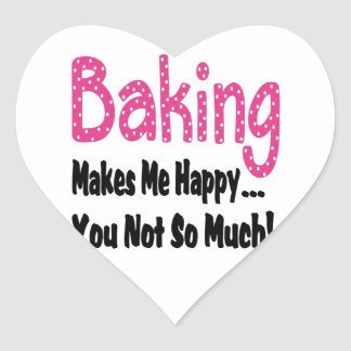 Baking Makes Me Happy Heart Sticker
