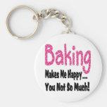 Baking Makes Me Happy Keychain