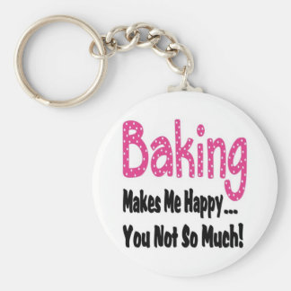 Baking Makes Me Happy Keychain