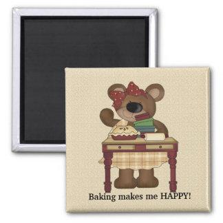 Baking makes me happy magnet