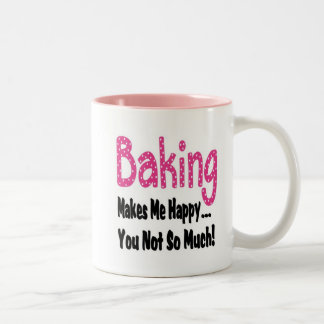 Baking Makes Me Happy Two-Tone Coffee Mug