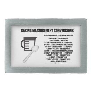 Baking Measurement Conversions (Measure) Belt Buckle