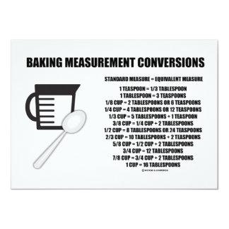 "Baking Measurement Conversions (Measure) 4.5"" X 6.25"" Invitation Card"