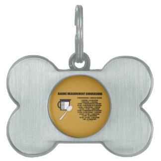 Baking Measurement Conversions (Measure) Pet ID Tag