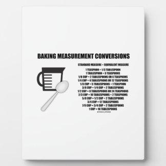 Baking Measurement Conversions (Measure) Plaque