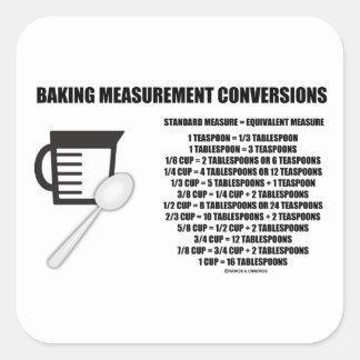Baking Measurement Conversions (Measure) Square Sticker