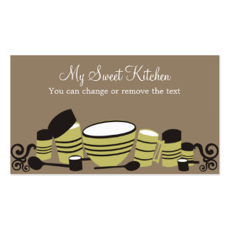 baking mixing bowl kitchen cannisters bakery bu... business card