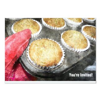 Baking Muffins or Cupcakes 5x7 Paper Invitation Card