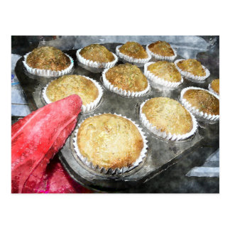 Baking Muffins or Cupcakes Postcard