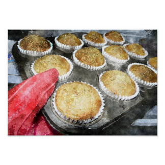 Baking Muffins or Cupcakes Poster