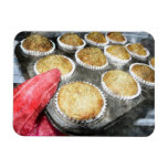 Baking Muffins or Cupcakes Rectangle Magnets