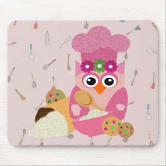 Baking Owl Mouse Pad