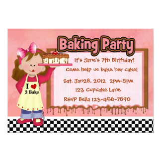Baking Party for Girls Invitation
