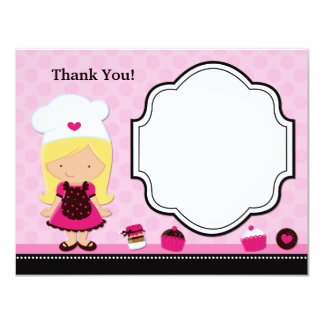 Baking Party Thank You Card