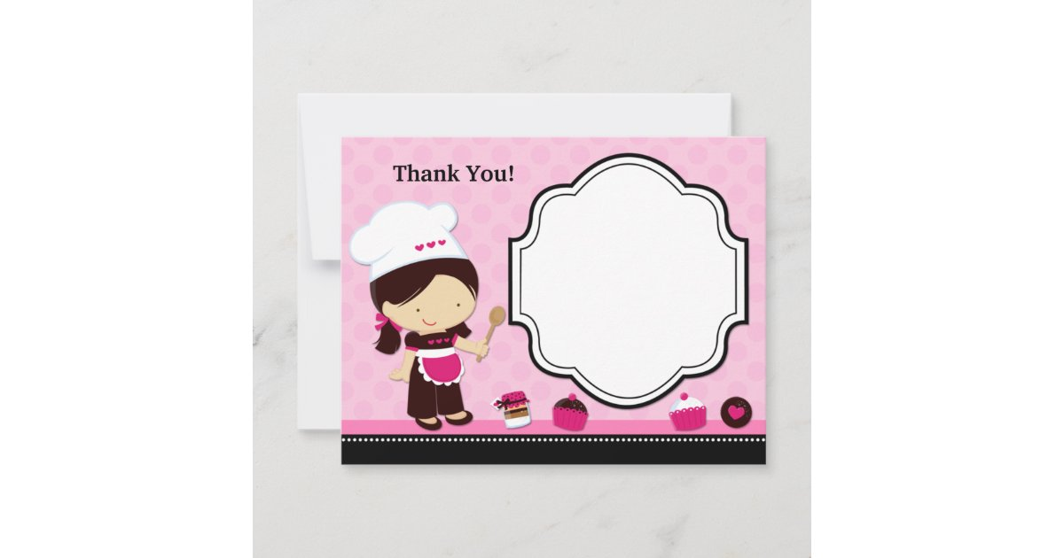 Thank You For Baking: Baking Party Thank You Card