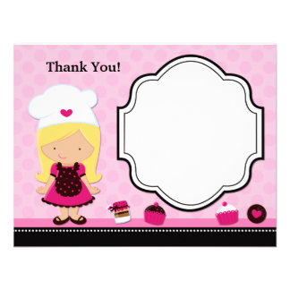 Baking Party Thank You Card Custom Invites
