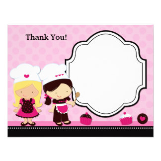 Baking Party Thank You Card Custom Announcements