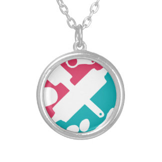 baking pattern personalized necklace
