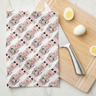Baking Pig Pattern kitchen towel