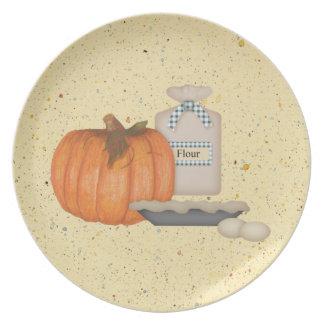 Baking Pumpkin Pie Plate